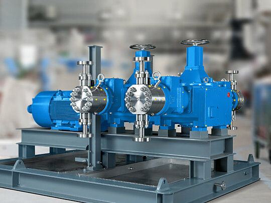 High suction capability of LEWA process pumps